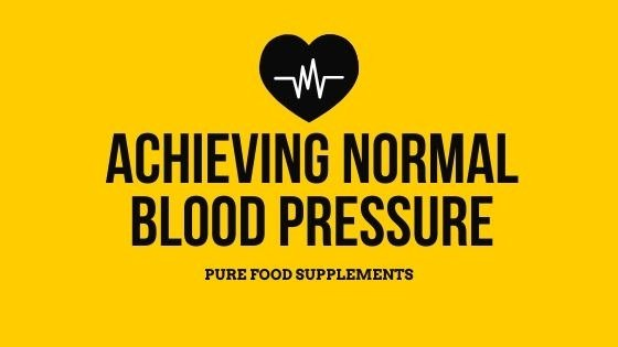 How to achieve normal blood pressure. 2 supplements that may help